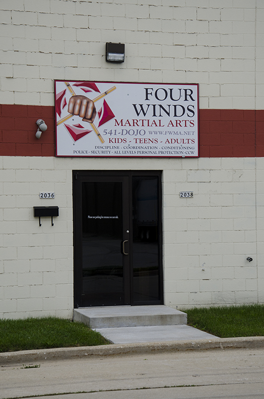 Four Winds Martial Arts - Rear Sign