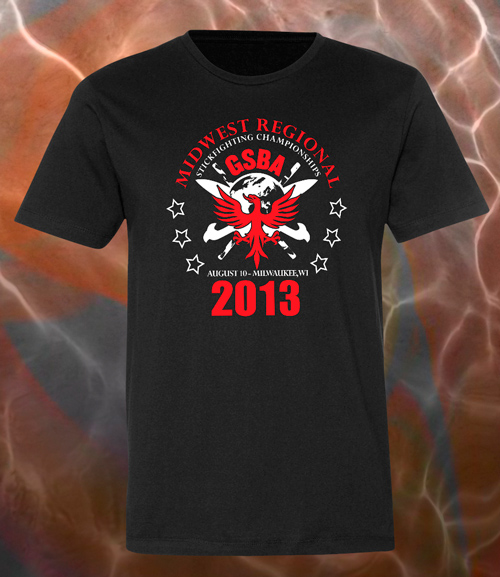 2013 GSBA Midwest Regional Championships T-shirt Design