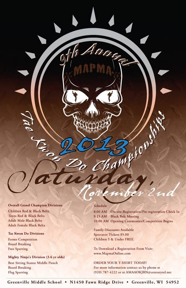 MAPMA 2013 Invitational Taekwondo Championships Poster Design