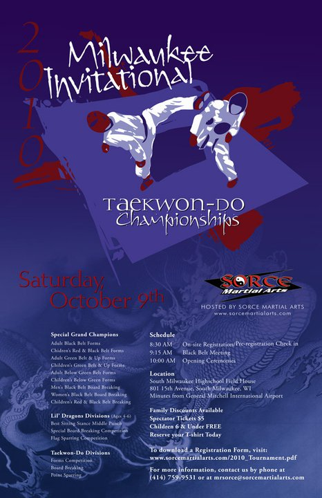 2010 Milwaukee Invitational Taekwon-Do Championships Tournament Designs