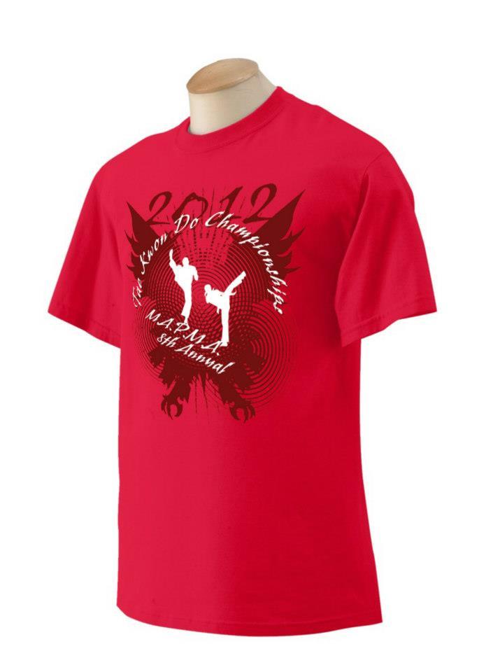 MAPMA 2012 Invitational Taekwondo Championships Tournament T-shirt Design
