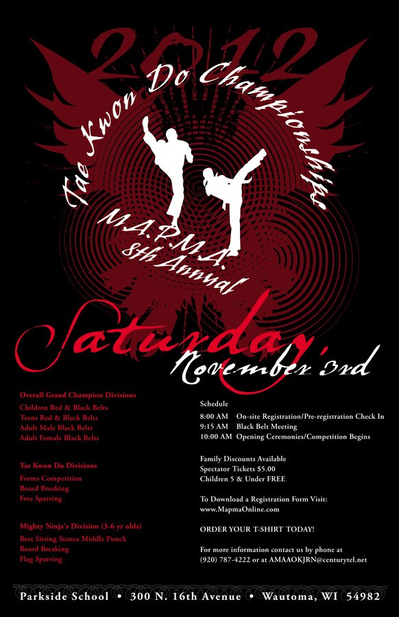 MAPMA 2012 Invitational Taekwondo Championships Tournament Poster