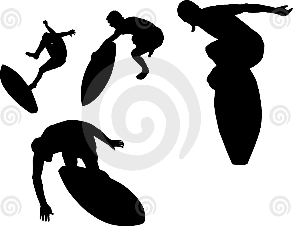 Stock Illustration: Skimboard Set 1