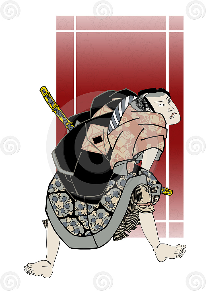 Stock Illustration: Samurai 2