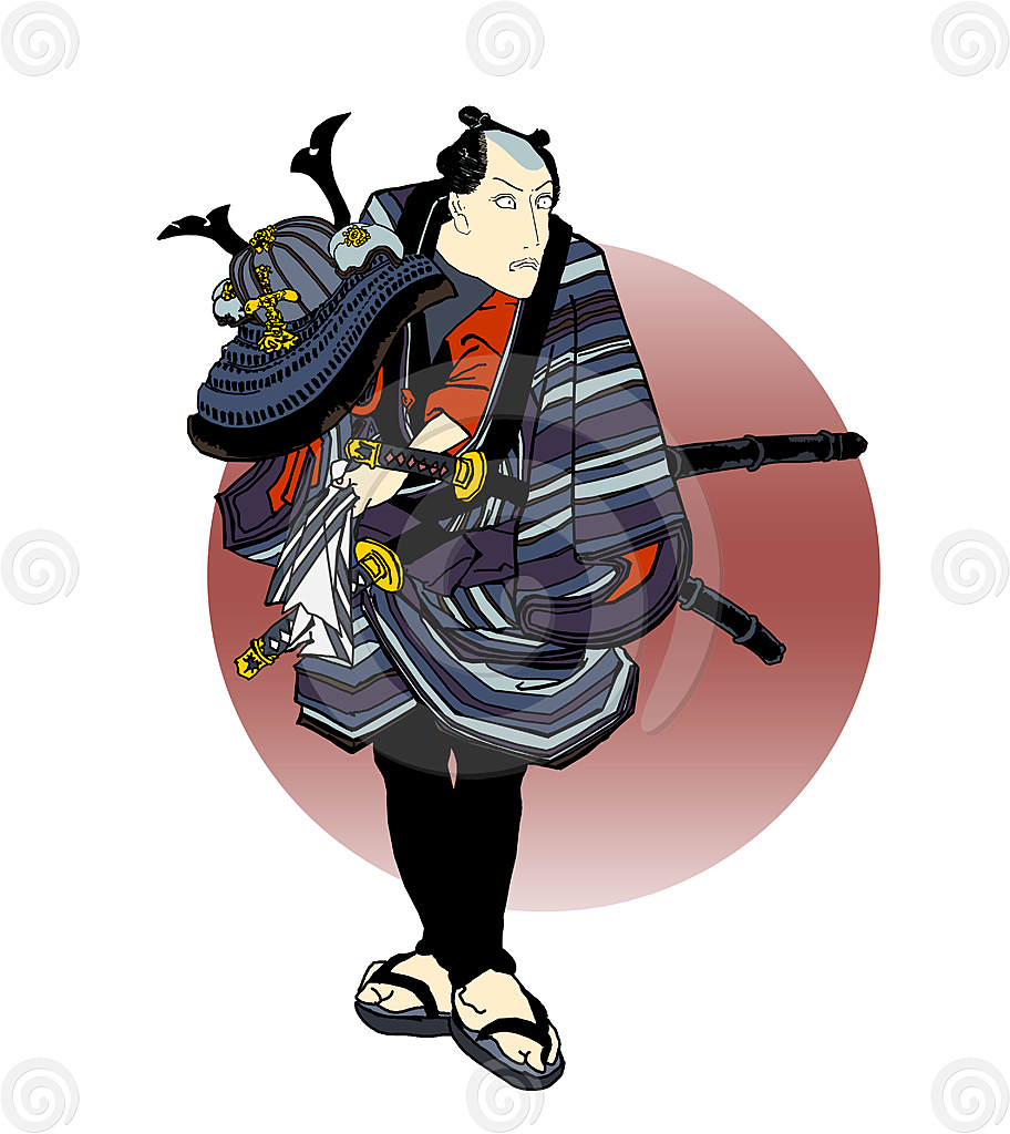 Stock Illustration: Samurai 4