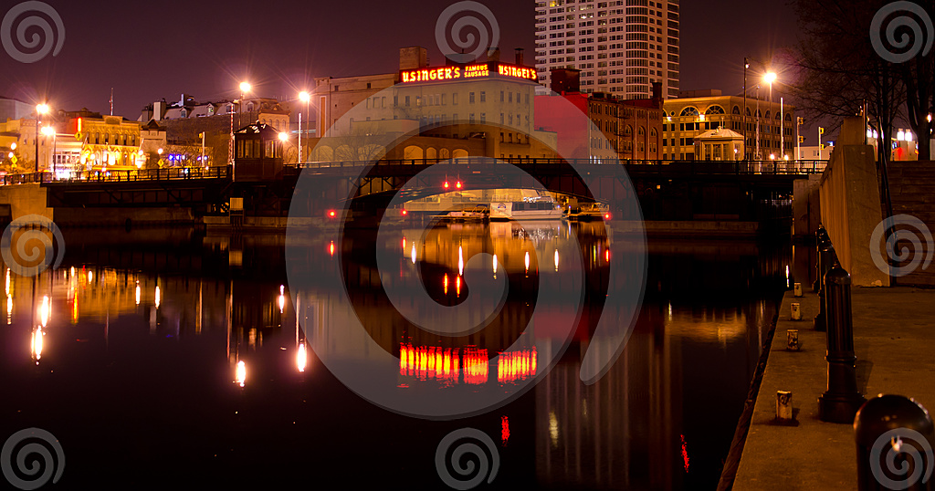 Stock Photo: Usingers On The Milwaukee River