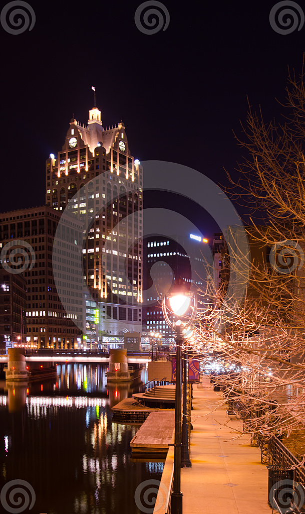 Stock Photo: Riverwalk Looking South