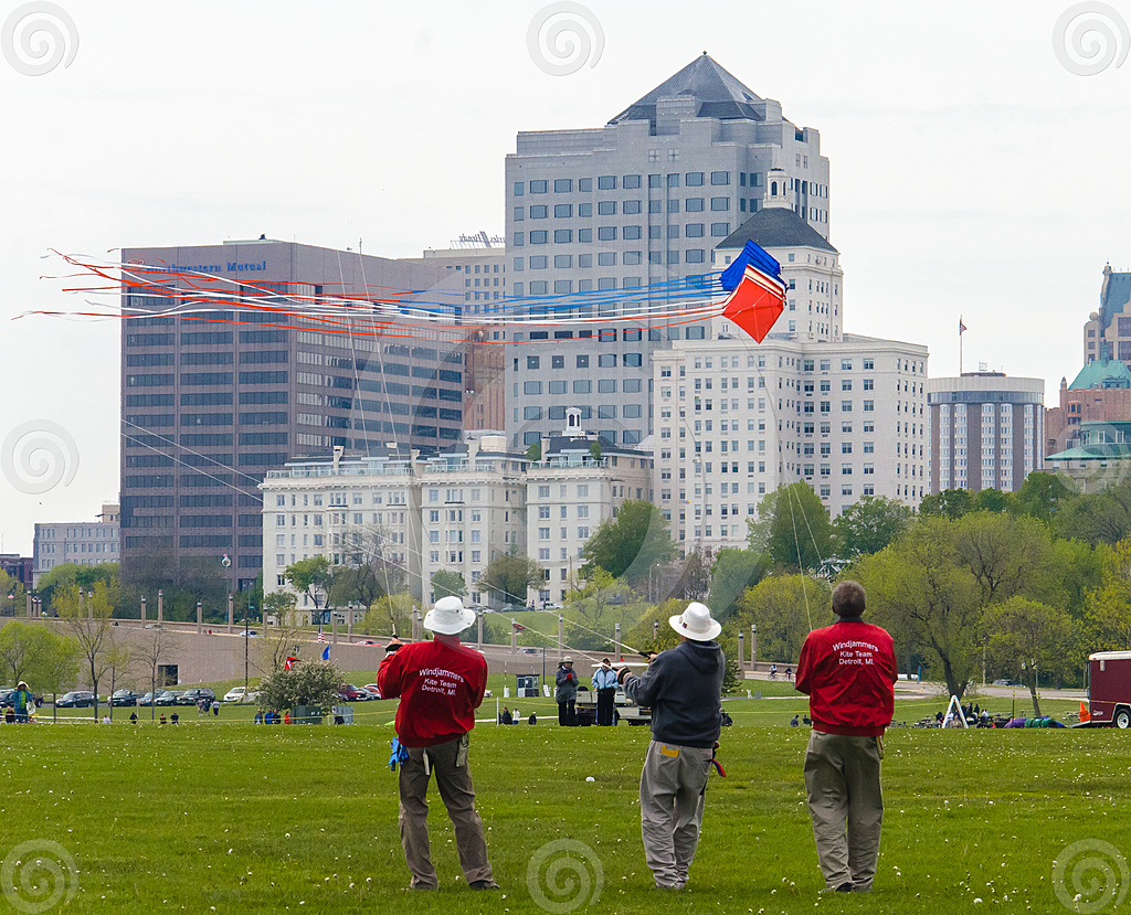 Stock Photo: Wind Jammers Kite Team