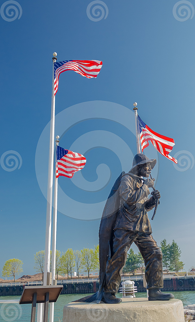 Stock Photo: Fisherman Memorial