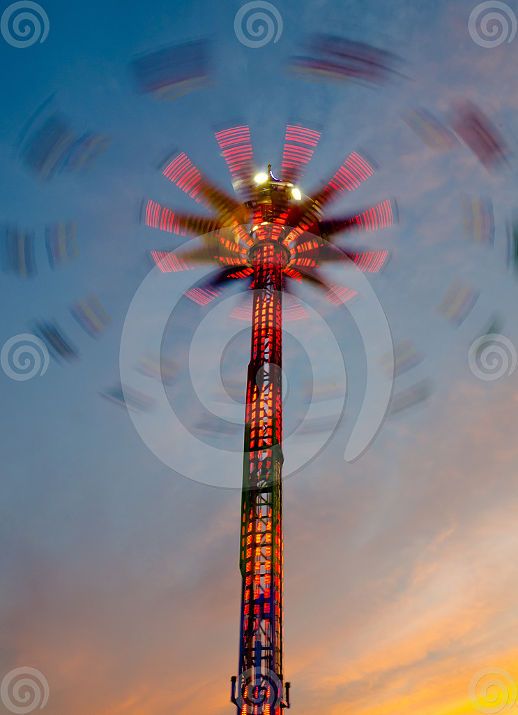Stock Photo: Spinning Light Tower 5