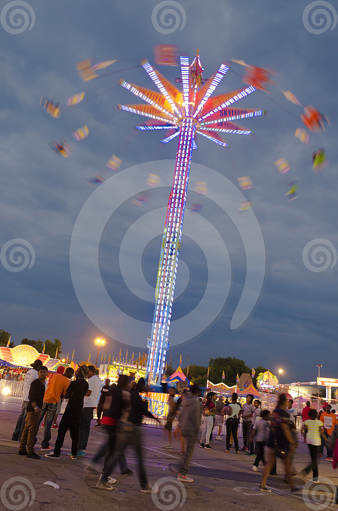 Stock Photo: Night Flying