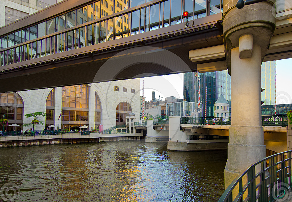 Stock Photo: River Skywalk