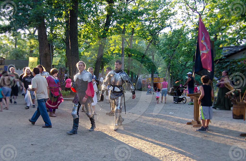 Stock Photo: Knights In Armor
