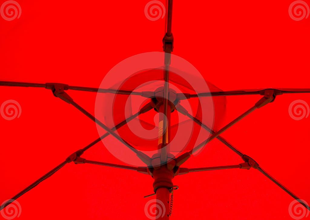 Stock Photo: Red Umbrella