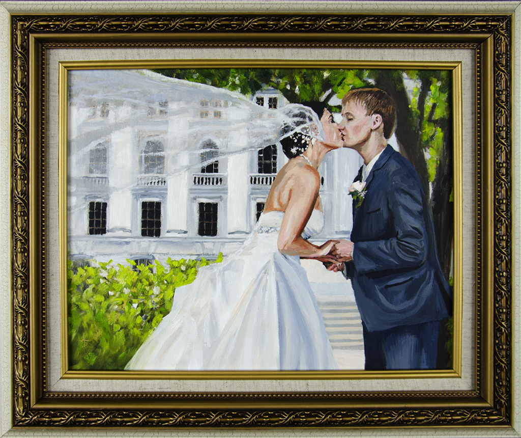 Past Commission: Bergman Commission, Wedding Portrait (Gift) - SOLD