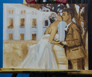 Bergman Commissioned Wedding Portrait - Stage 1