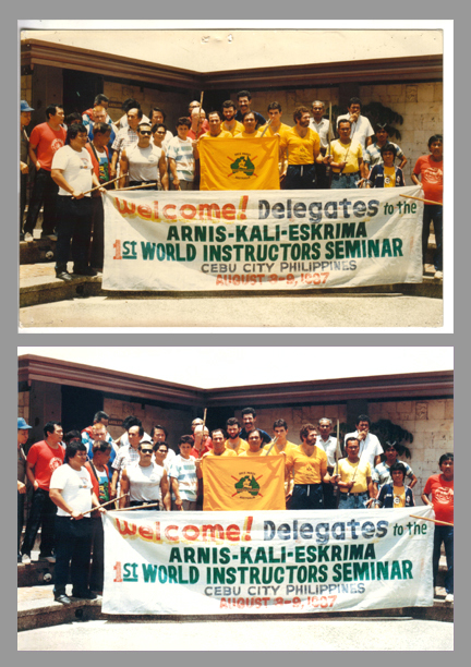 1st World Instructors Seminar, Arnis-Kali-Eskrima - Cebu City, Philippines - August 8-9, 1987 - Photo Restoration