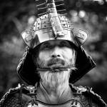 Colorized Samurai Photograph - Original Black & White Version