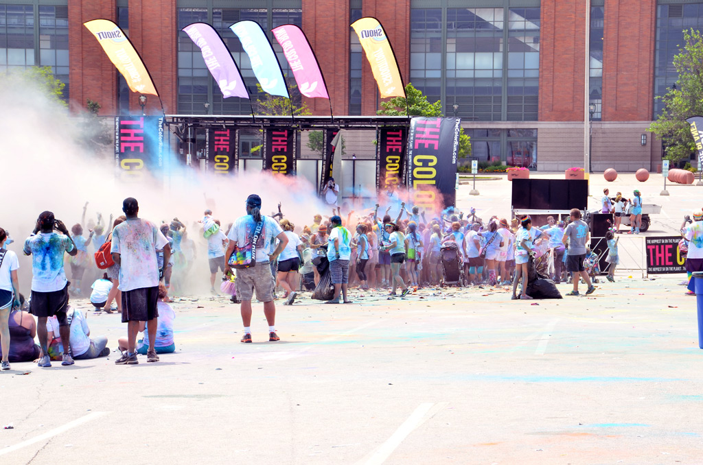 The Color Run Milwaukee - Miller Park - July 2014