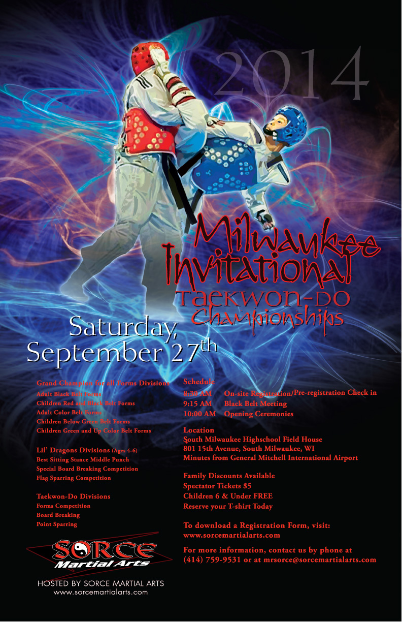 Tournament Promotional Package for the 2014 Milwaukee Invitational Taekwon-do Championships