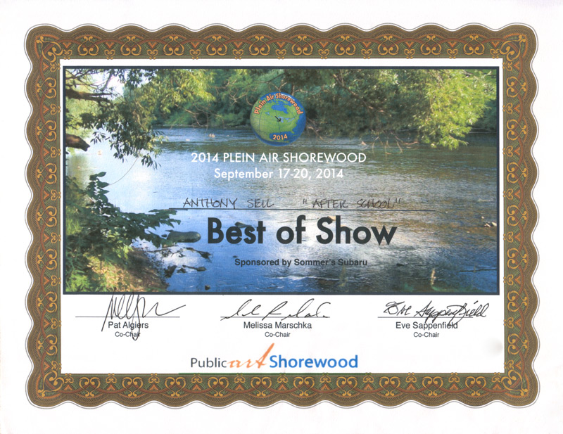 2014 Shorewood Plein Air Painting Event Award
