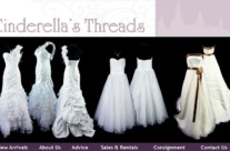 Web Design – Cinderella's Threads Website