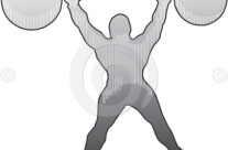 Stock Illustration: Strongman Shoulder Press