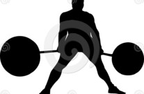Stock Illustration: Strongman Deadlift
