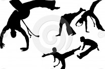 Stock Illustration: Capoeira Set 1