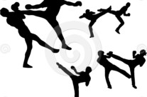 Stock Illustration: Martial Arts – High Kick Set 1