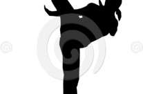 Stock Illustration: High Kick Silhouette