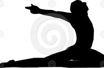 Stock Illustration: Yoga Pose Silhouette