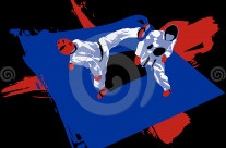 Stock Illustration: Tae Kwon Do Match