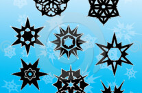 Stock Illustration: Gothic Snowflakes