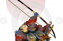 Stock Illustration: Samurai 3