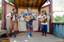 Stock Photo: Renaissance Musician Trio
