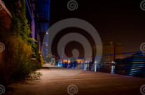 Stock Photo: Riverwalk At Night